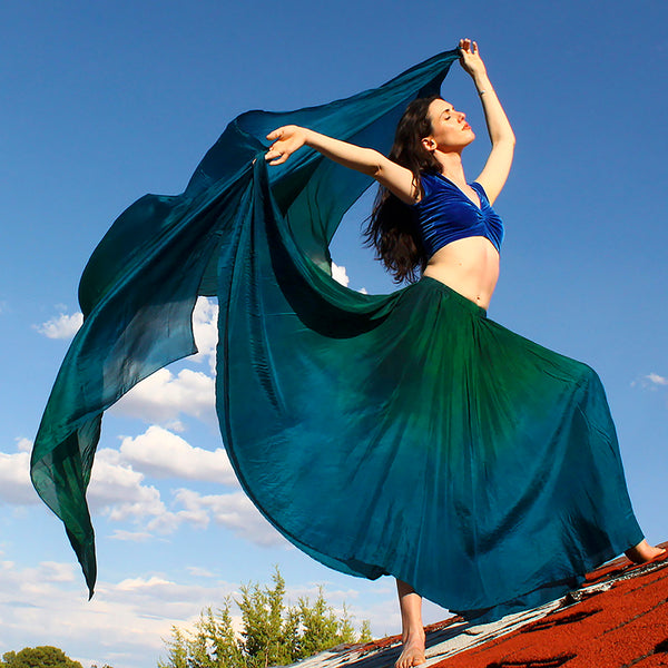 Nahari Silks Womens Hand Dyed Skirts & Skirt Veil Sets