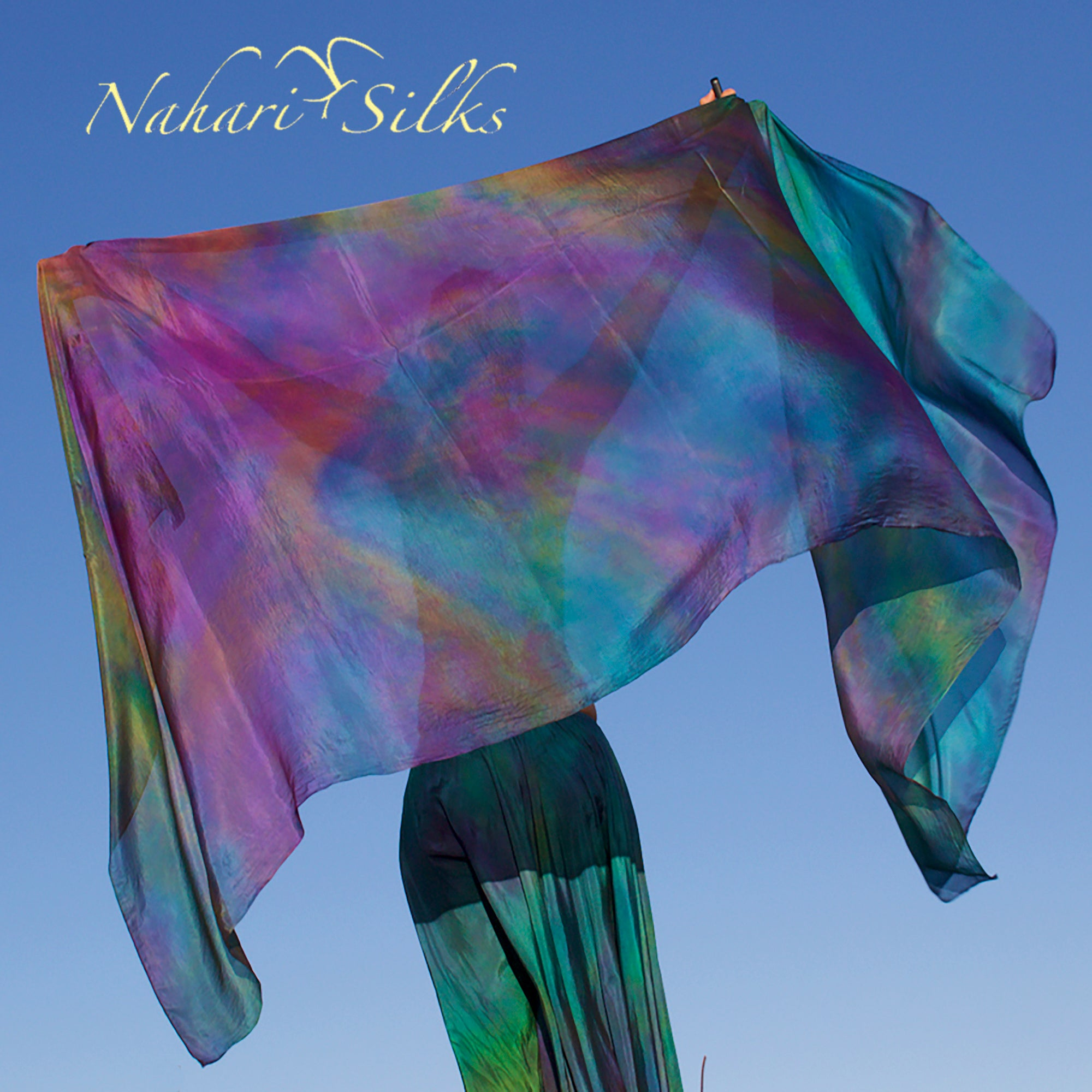 Nahari Silks Womens 100% Silk Dance Scarf Shawl  Blended Color Diesel