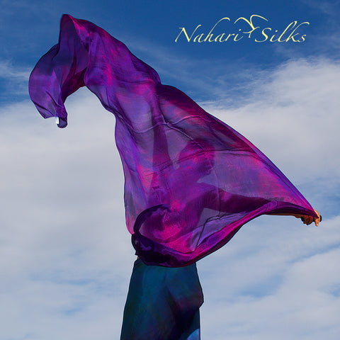 Nahari Silks Womens 100% Silk Dance Scarf Shawl  Blended Color Dusk Light