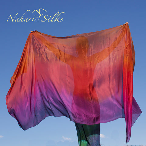 Nahari Silks Womens 100% Silk Dance Scarf Shawl  Blended Color Gold Liquid