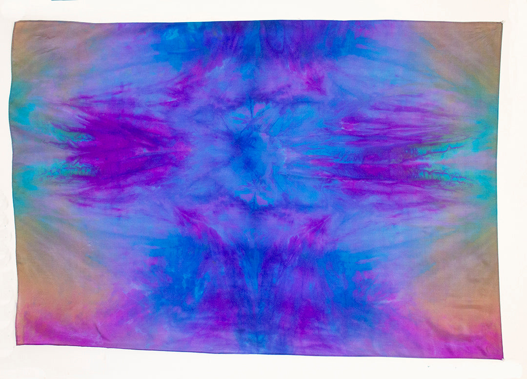 Silk Sarong Shawl Small Reef Scape
