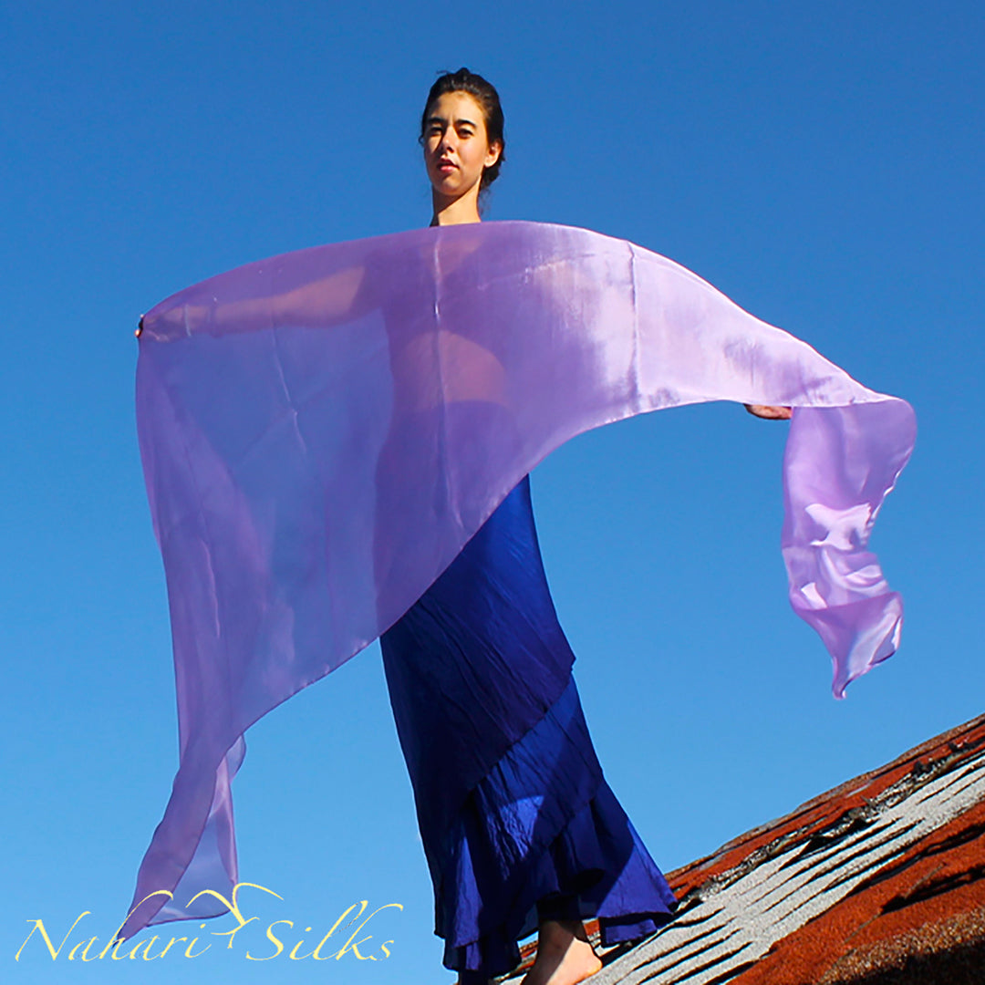 belly dance costume, belly dance veil, dance scarf, lavender