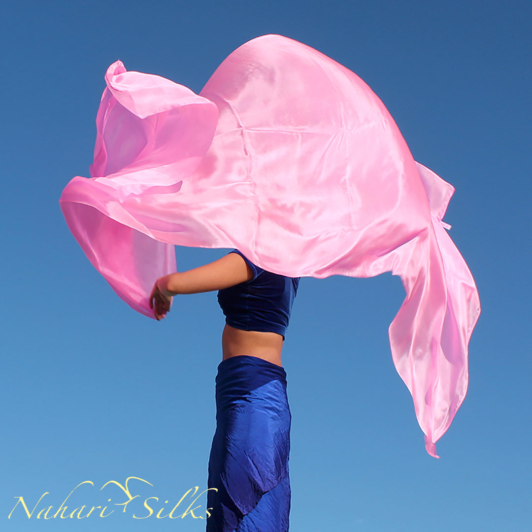 belly dance costume, belly dance veil, dance scarf, light pink