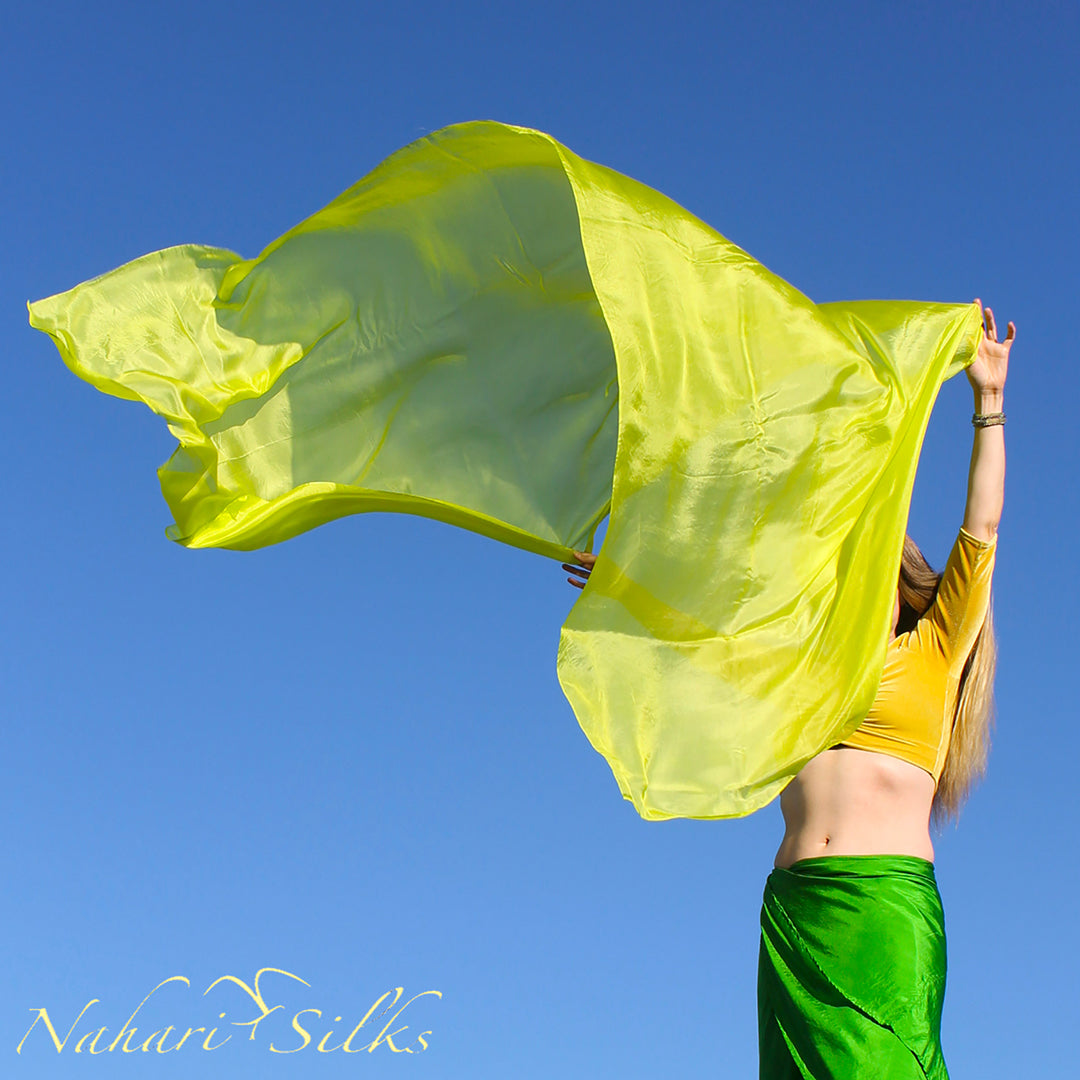 Belly Dance Veil Scarf Silk Lime