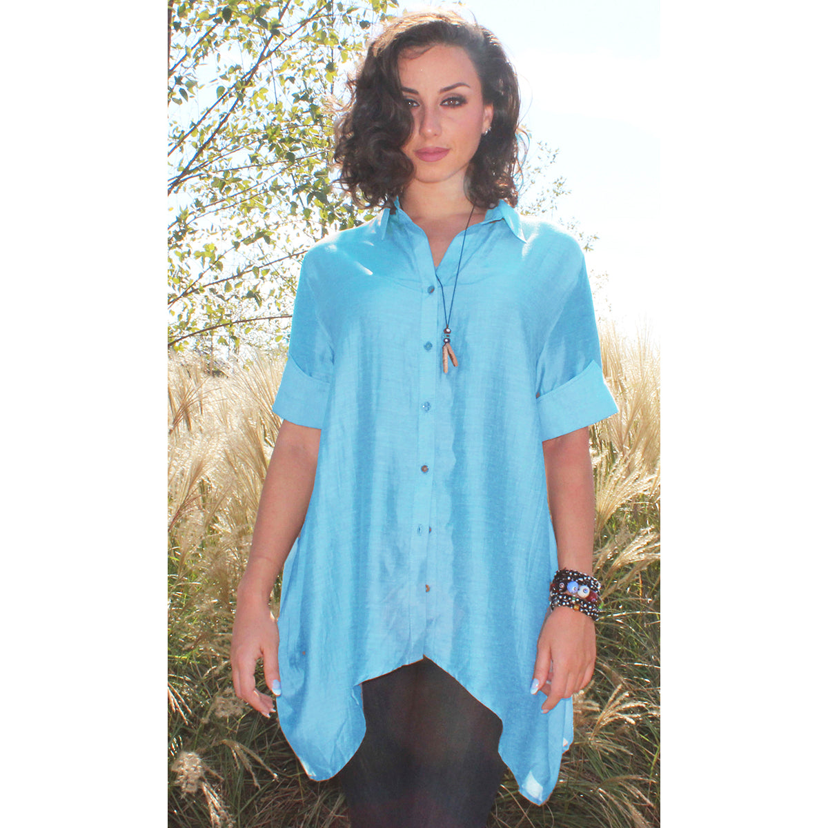women's silk button shirt summer