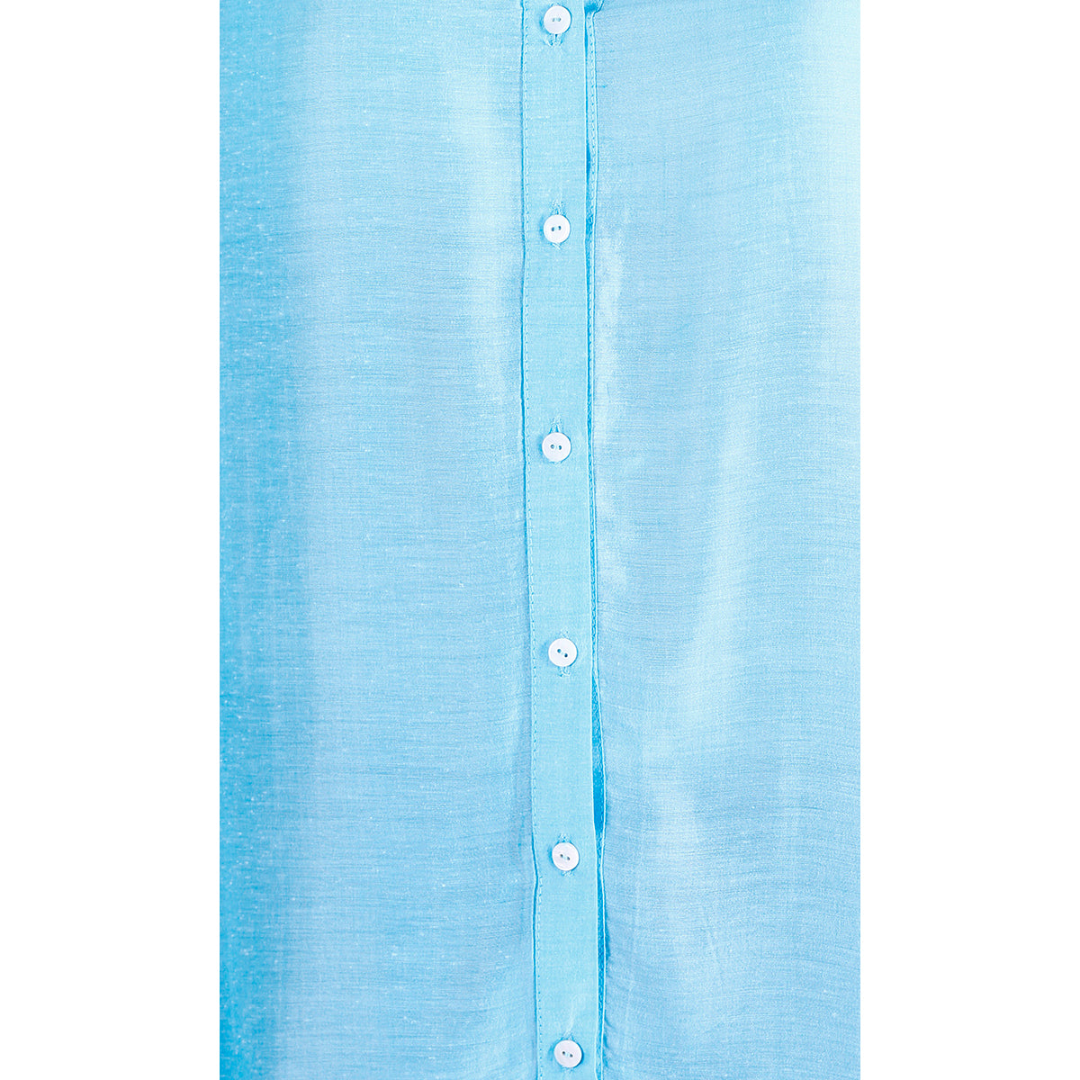 Women's Long Shirt Silk Blend Light Blue.