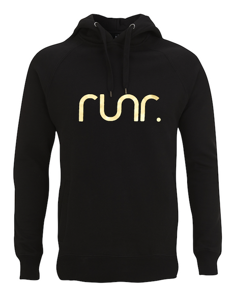 Men's Black & Gold Runr Hoodies