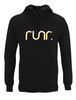 Women's Black & Gold Runr Hoodies