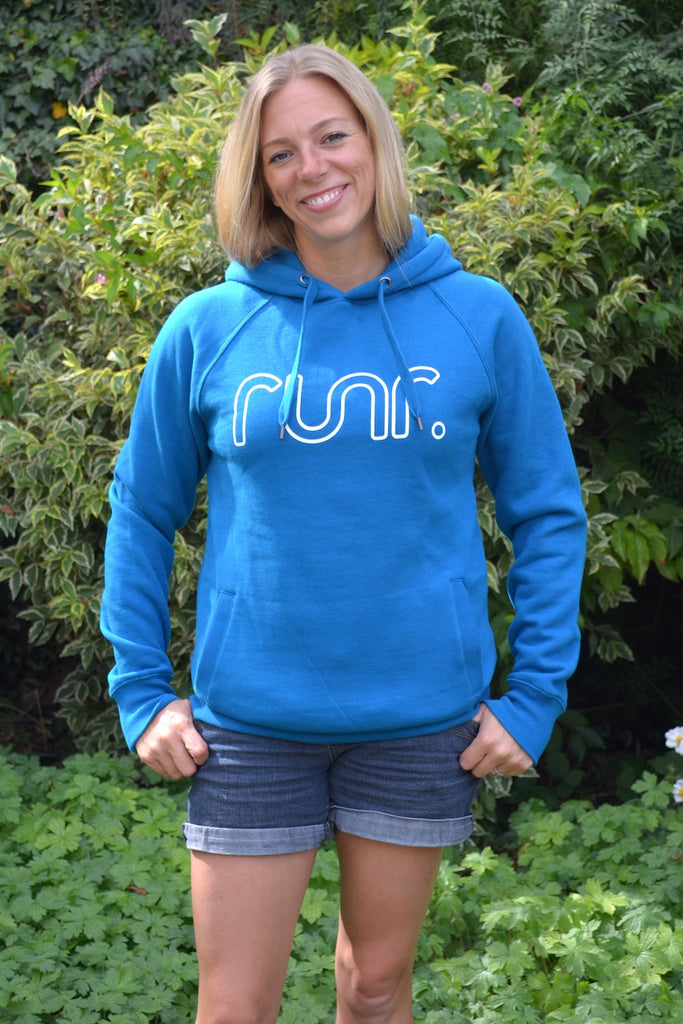Women's Midnight Runr Hoodies - Island Blue