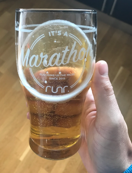 It's A Marathon Not A Sprint Pint Glass