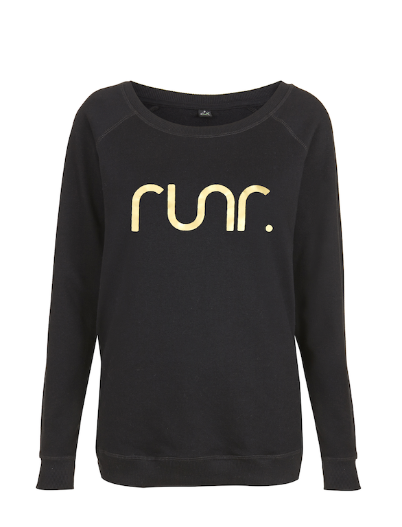 Women's Black & Gold Jumper