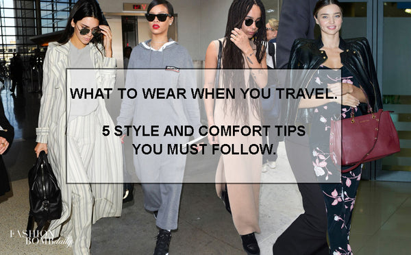 WHAT TO WEAR ON A PLANE: FIVE EASY TIPS.