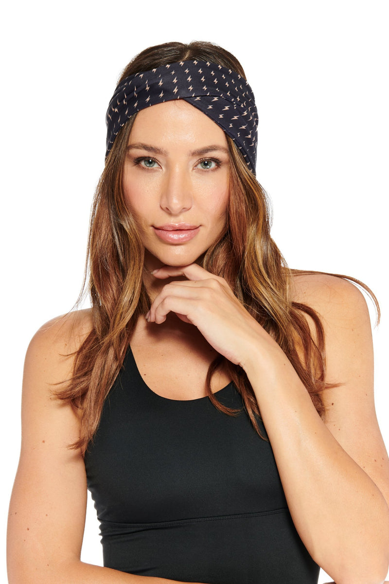 Allover Bolt Headband Electric Yoga