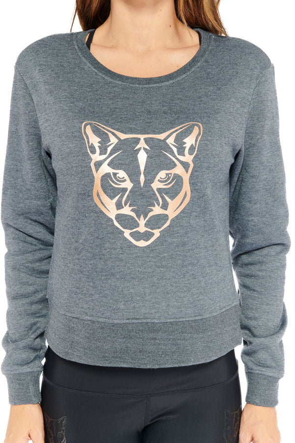 Kendall Panther Sweater Electric Yoga