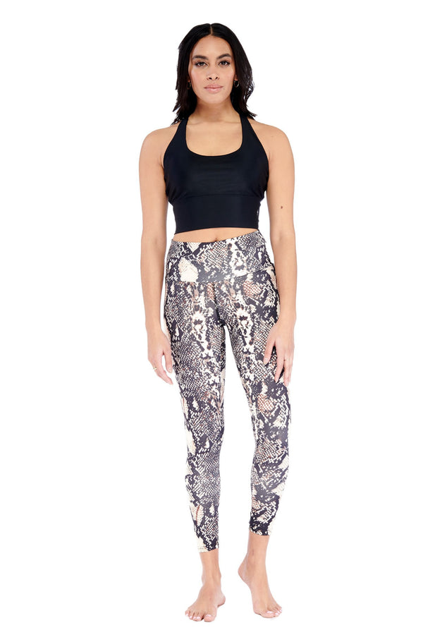 Snake Printed Mid Legging Electric Yoga