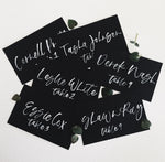 Placecards White on Black