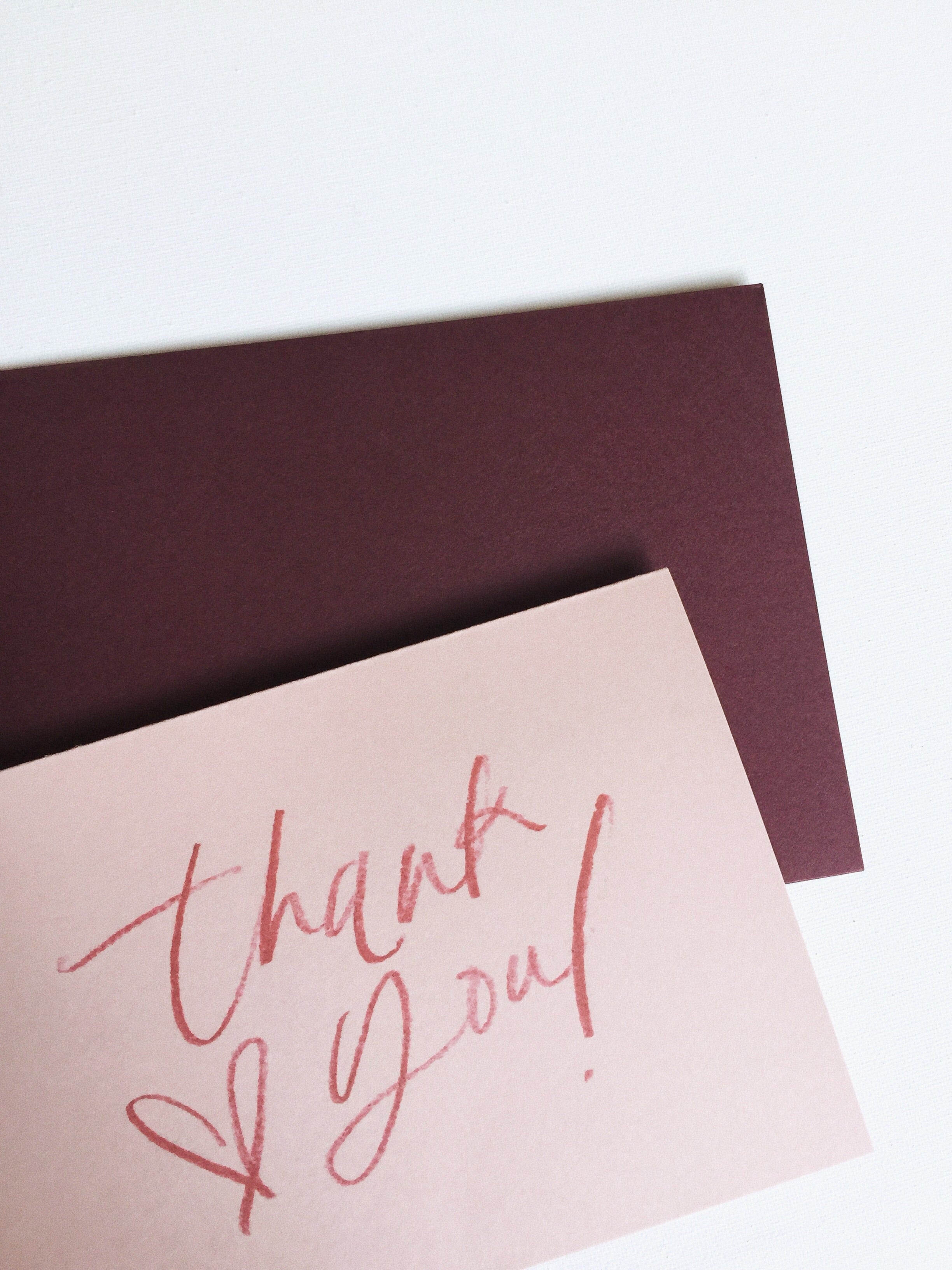 Blush Thank You Card