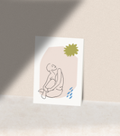 Sunbathing Greeting Card Print