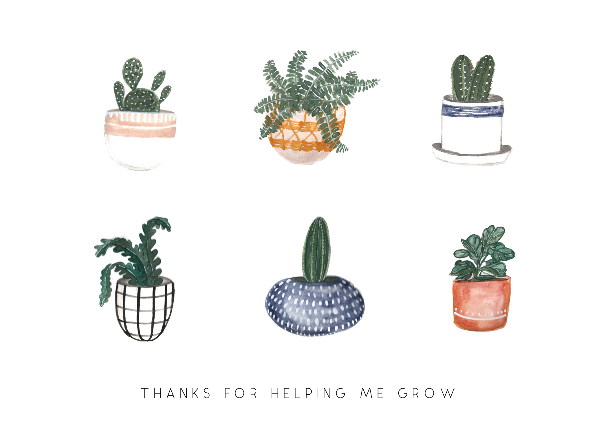 Thanks for Helping me Grow Greeting Card