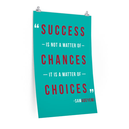 Success Poster (blue)