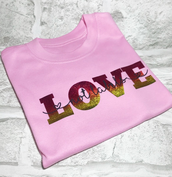 'Love, not labels' tee