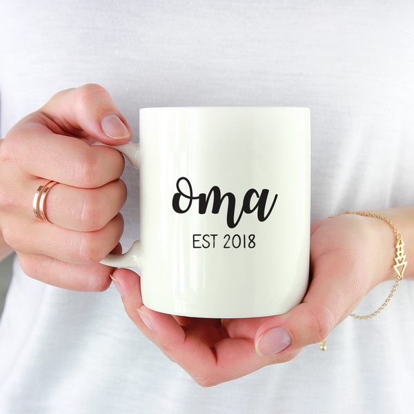 Personalized Grandparent Name Mugs