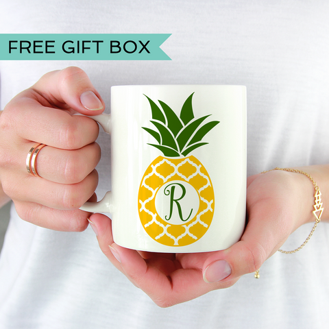 Pineapple Monogram Coffee Mug