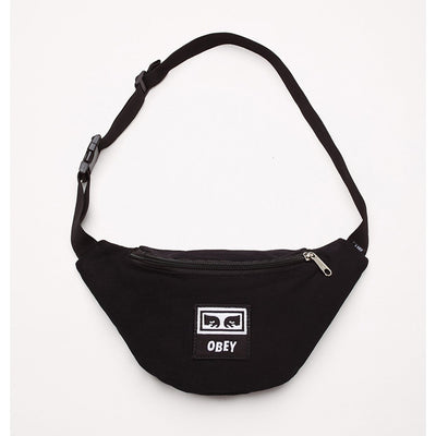 Wasted Hip Bag Black Twill | OBEY Clothing