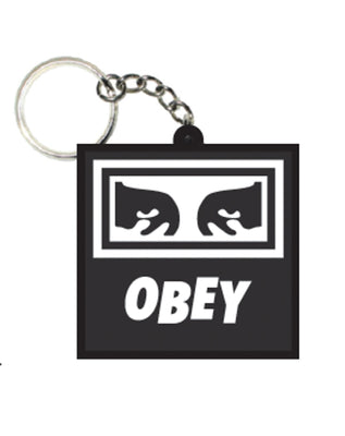 Icon Eyes Rubber Keychain Black | OBEY Clothing