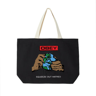 Squeeze Out Hatred Tote Bag Black | OBEY Clothing