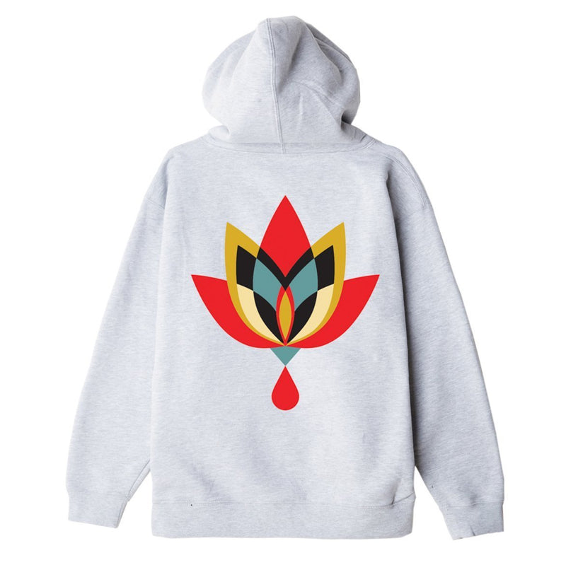 OBEY Geometric Flower 2 Substainable Hood Ash Grey | OBEY Clothing
