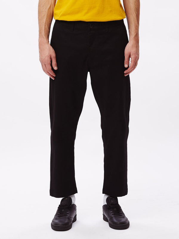 Straggler Flooded Pant Black | OBEY Clothing