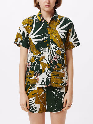 Tempt Shirt Green Multi | OBEY Clothing