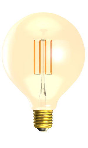 Bell 01472 - 4W LED Vintage 125mm Globe Dimmable - ES, Amber, 2000K