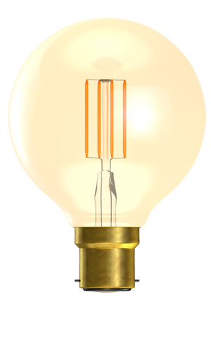 Bell 01473 - 4W LED Vintage Globe Dimmable - BC, Amber, 2000K