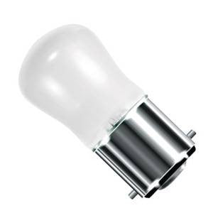 PY15BC-W-CR - 250v 15w Ba22d 29X59mm White