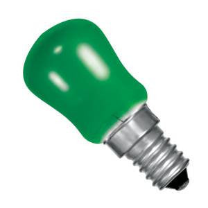 PY15SES-G-CR - 250v 15w E14 29X66mm Green