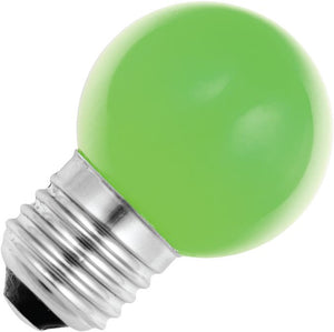 Schiefer 027241223 - LED E27 Ball G45x72mm 230V 1W Green 320deg AC Non-Dim