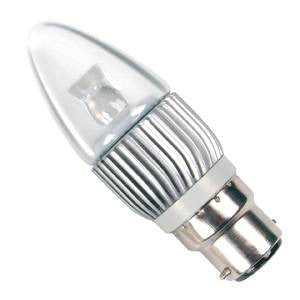 CL4BC-CW-BE - Power LED Candle - 240v 4w B22d
