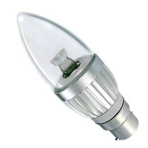 CL4BC-CWD-BE - Power LED Candle - 240v 4w B22d Dimmable