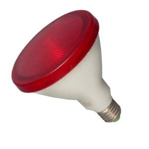 P38L15FL-R-BE - 240v 15w E27 Red PAR38 LED