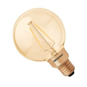 G95L3ES-DGO-ME - 240v 3w E27 LED 2200K Gold Dimmable