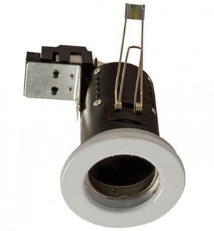 240v Mains GU10 Fire Rated Downlighter White