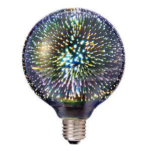 V-Tac 3W Non-Dimmable E27 G125 Decorative Filament LED 3D Globe Bulb