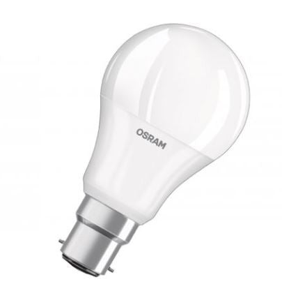 278219 - OSRAM LED 240v 9=60w GLS 60 2700K B22d FROSTED DIMMABLE