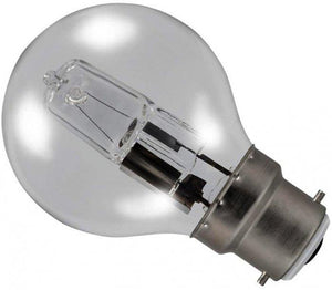 Golf Ball 28w Ba22d/BC 240v Clear Energy Saving Halogen Light Bulb - 0635635603656
