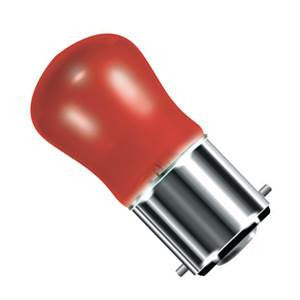 PY15BC-R-CR - 250v 15w Ba22d 29X59mm Red