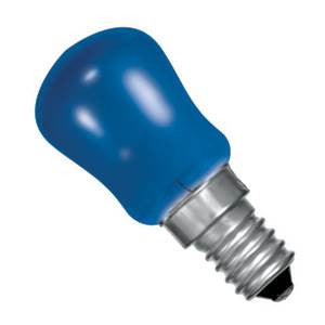 PY15SES-B-CR - 250v 15w E14 29X66mm Blue