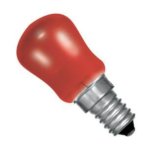 PY15SES-R-CR - 250v 15w E14 29X66mm Red
