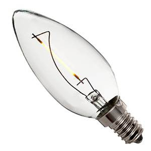 CL1SES-82 - 240v 1w E14 Filament LED 827 C35 120lm